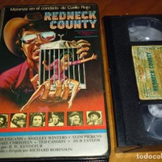 Cine: REDNECK COUNTY - RICHARD ROBINSON , LESLIE UGGAMS , SHELLEY WINTERS - VHS. Lote 174319313