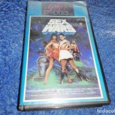 Cine: SEX WARS / SEXO EN LAS GALAXIAS - VHS ORIGINAL 1985 - DE CULTO DE BOB VOSSE - PARODIA STAR WARS. Lote 174321905
