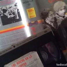 Cine: UNA NOCHE EN LA ÓPERA. VHS. PRIMERA EDICIÓN MGM. HERMANOS MARX. Lote 174343068