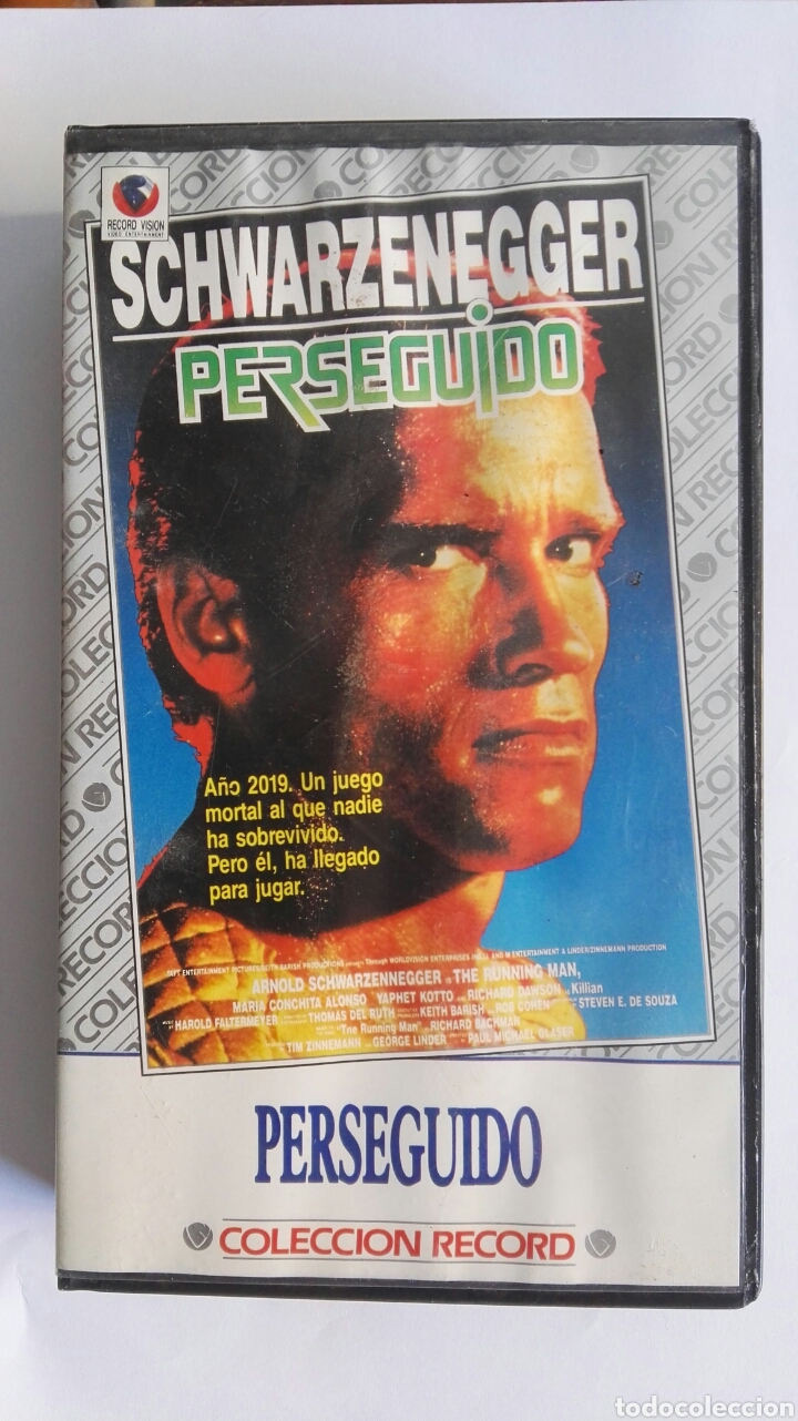 PERSEGUIDO SCHWARZENEGGER VHS (Cine - Películas - VHS)