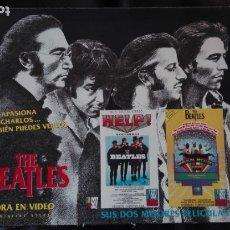 Cinéma: THE BEATLES CAJA CON DOS PELÍCULAS VHS HELP Y MAGICAL MYSTERY TOUR EN INGLÉS CON SUBTÍTULOS EN ESP. Lote 175508440