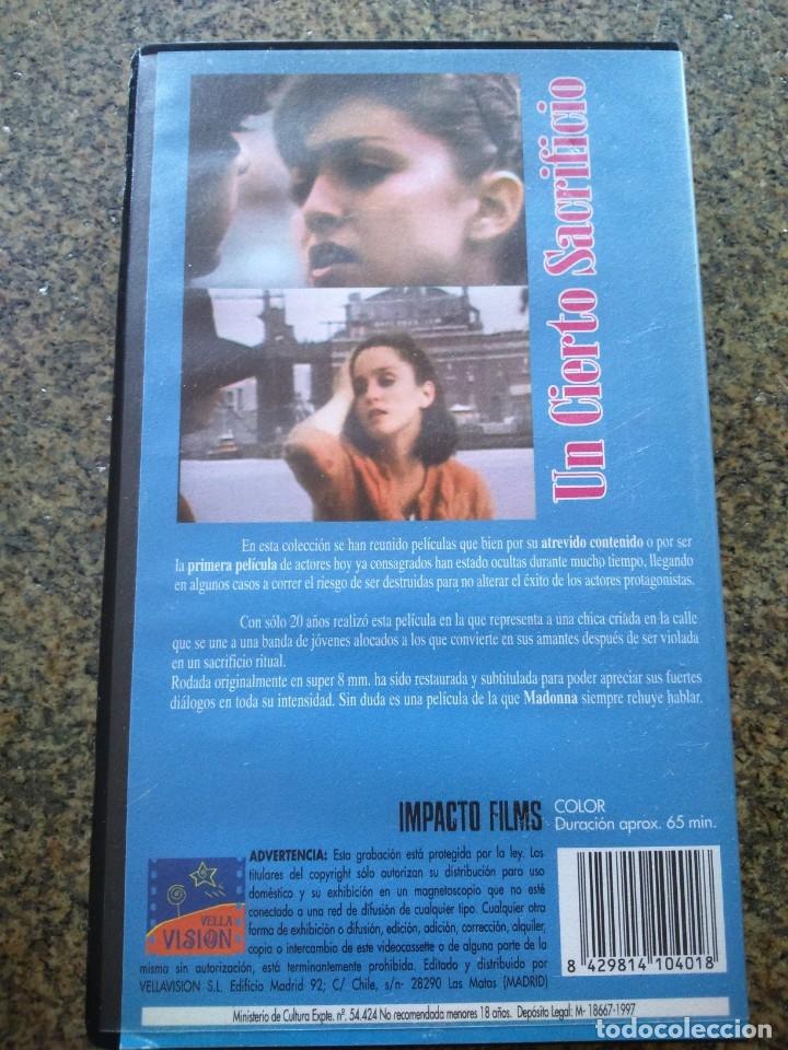 Cine: VHS -- MADONNA -- UN CIERTO SACRIFICIO -- PELICULA PROHIBIDA -- 1997 -- - Foto 2 - 176081894
