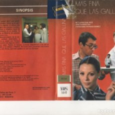Cine: VHS - MAS FINA QUE LAS GALLINAS - Mª LUISA SAN JOSE, JOSE SACRISTAN, FERNANDO FERNAN GOMEZ. Lote 176105269