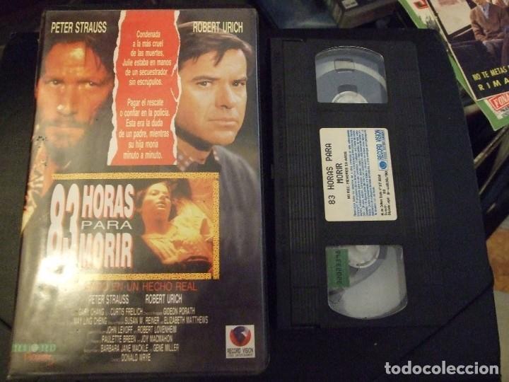 83 HORAS PARA MORIR - DONALD WRYE - PETER STRAUSS , ROBERT URICH - RECORD 1990 (Cine - Películas - VHS)