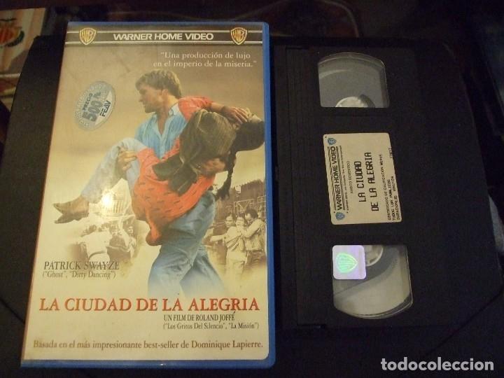 LA CIUDAD DE LA ALEGRIA - ROLAND JOFFE - PATRICK SWAYZE , PAULINE COLLINS - WARNER 1993 (Cine - Películas - VHS)