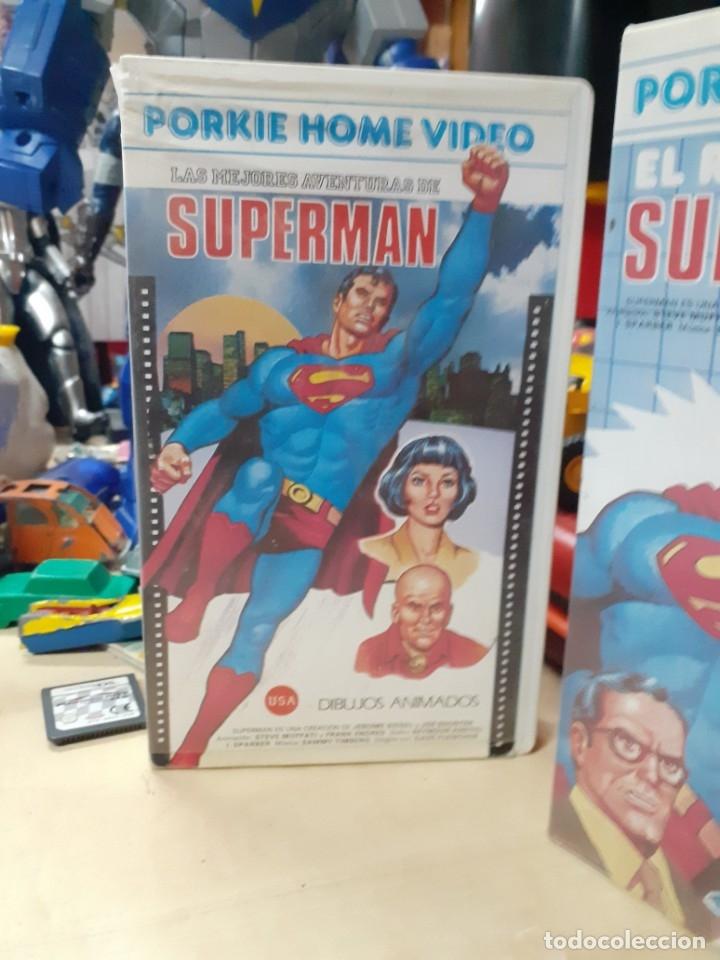 Cine: Lote 2 películas de Supermán dibujos animados.El regreso de Supermán y las mejores aventuras.Años 80 - Foto 3 - 176251683