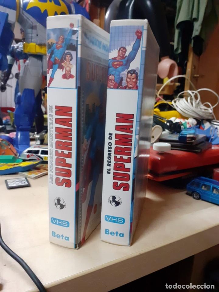 Cine: Lote 2 películas de Supermán dibujos animados.El regreso de Supermán y las mejores aventuras.Años 80 - Foto 4 - 176251683