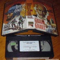 Cine: LOS GRANDES DE LA HISTORIA 2 . HERNAN CORTES / GALILEO GALILEI - VHS. Lote 176400725