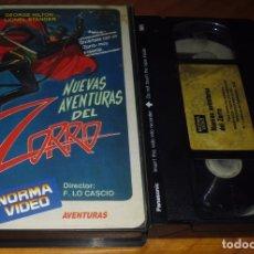 Cine: NUEVAS AVENTURAS DEL ZORRO - GEORGE HILTON - VHS. Lote 176402350