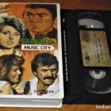 Cine: CRIMEN EN MUSIC CITY - LEO PENN , BELINDA MONTGOMERY - SUSPENSE - VHS. Lote 176402534