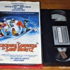 Cine: VACACIONES CORNUTAS EN SAINT MORITZ - VHS CAJA GRANDE. Lote 176444212