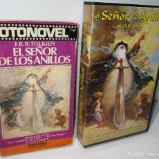 Cine: EL SEÑOR DE LOS ANILLOS, PELÍCULA ANIMACIÓN, VHS + FOTONOVEL BRUGUERA, J.R.R. TOLKIEN. Lote 176458090