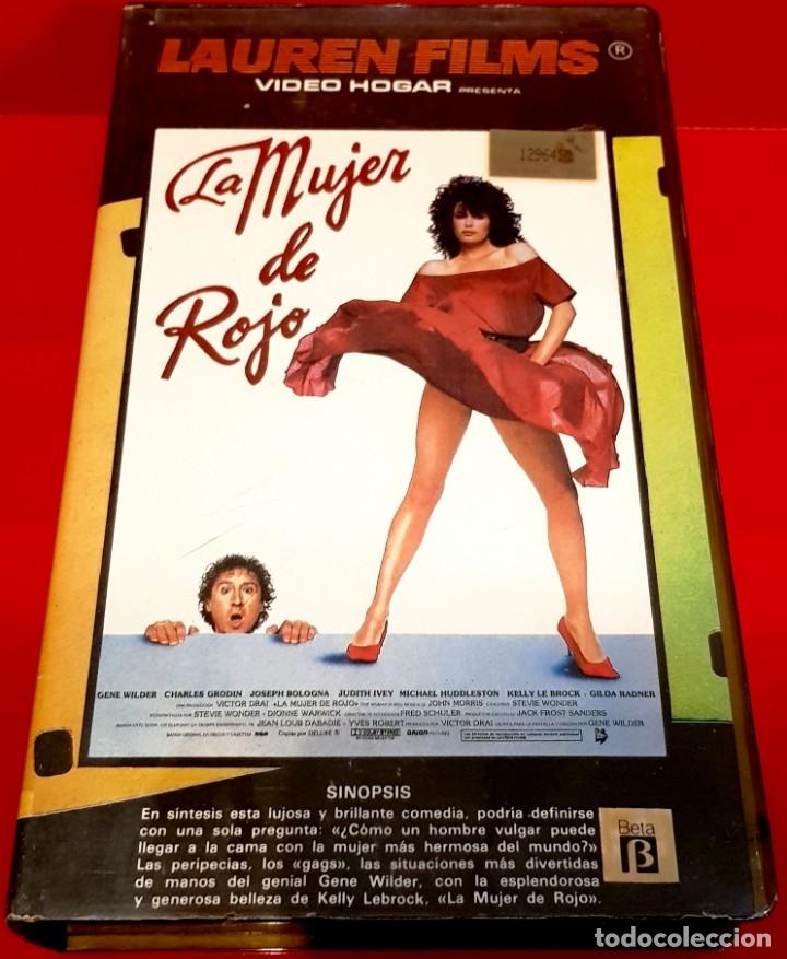 LA MUJER DE ROJO (1984) - 1ª EDICIÓN LAUREN (Cine - Películas - VHS)