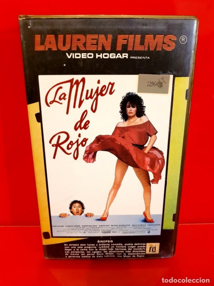 Cine: LA MUJER DE ROJO (1984) - 1ª EDICIÓN LAUREN - Foto 2 - 176704215