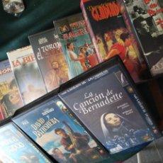 Cine: DIEZ CINTAS DE VIDEO DE TEMA RELIGIOSO, EN SISTEMA VHS. Lote 176833250