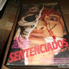 Cine: SENTENCIADOS / SLASHER / VHS ORIGINAL. Lote 177288557