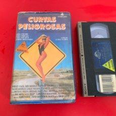 Cine: VHS CURVAS PELIGROSAS 1 EDICIÓN VIDEOCLUB CAJA GRANDE. Lote 177290198