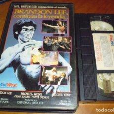 Cine: BRANDON LEE . CONTINUA LA LEYENDA - VHS - ARTES MARCIALES. Lote 177632634