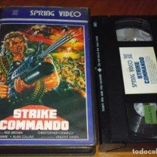 Cine: STRIKE COMMANDO - CHRISTOPHER CONNELLY , BRUNO MATTEI - VHS - PEDIDO MINIMO 6 EUROS. Lote 177637462