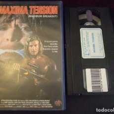Cine: MAXIMA TENSION MAXIMUM BREAKOUT - TRACY LINCH - BOBBY JOHNSTON , SYDNEY COALE - COLUMBIA 1994. Lote 177722540