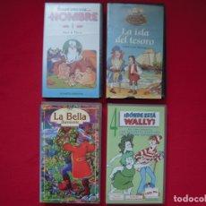 Cine: LOTE DE 4 PELÍCULAS DE DIBUJOS ANIMADOS EN VHS. Lote 177937850