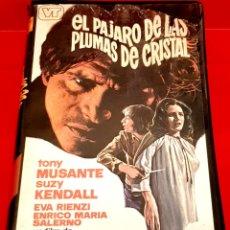 Cine: EL PAJARO DE LAS PLUMAS DE CRISTAL(1970) - VIDEOTECHNICS, DARIO ARGENTO, GIALLO. Lote 178394561