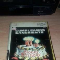 Cine: CUMPLEAÑOS SANGRIENTO VHS. Lote 178597737