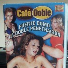 Cine: FUERTE COMO LA DOBLE PENETRACIÓN VHS NACHO VIDAL ADULTOS PRIMERA VEZ EN TODOCOLECCION. Lote 178861071
