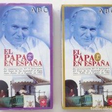 Cine: EL PAPA JUAN PABLO II EN ESPAÑA. 1982. VIDEOS VHS. ABC. SIN ABRIR.. Lote 179020295