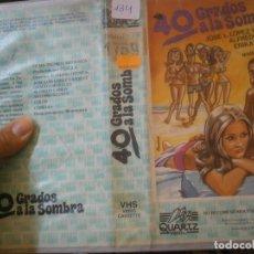 Cine: 40 GRADOS ALA SOMBRA¡¡1 EDICCION¡¡VHS¡DISPONEMOS,MAS 60.000,PELICULAS.EN¡VHS,BETA,2000¡. Lote 179046198