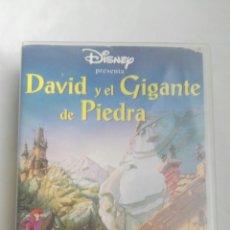 Cine: DAVID Y EL GIGANTE DE PIEDRA VHS DISNEY. Lote 179060037