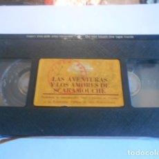 Cine: VHS SIN CARATULA SOLO CINTA - LAS AVENTURAS Y AMORES DE SCARAMOUCHE - 1. Lote 179176507