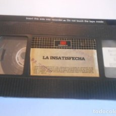 Cine: VHS SIN CARATULA SOLO CINTA - LA INSATISFECHA - 5. Lote 179176752