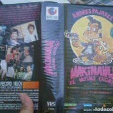 Cine: MAKINAVAJA¡EL ULTIMO CHORIZO''VHS¡¡1 EDICCION CAJA GRANDE'. Lote 179329148