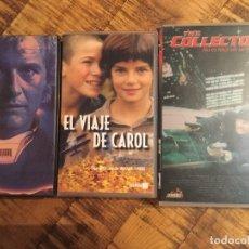 Cine: LOTE DE 3 PELÍCULAS THE COLLECTORS-EL VIAJE DE CAROL-PELIGROSAMENTE UNIDOS. Lote 179329757