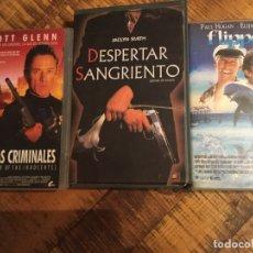 Cine: LOTRE 3 PELÍCULASUNFO-HUELLAS CRIMINALES-DESPERTAR SANGRIENTO-FLIPPER. Lote 179335567