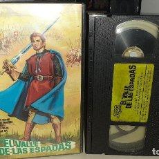 Cine: VHS EL VALLE DE LAS ESPADAS - ESPARTACO SANTONI - FERNANDO REY (E3). Lote 179389628