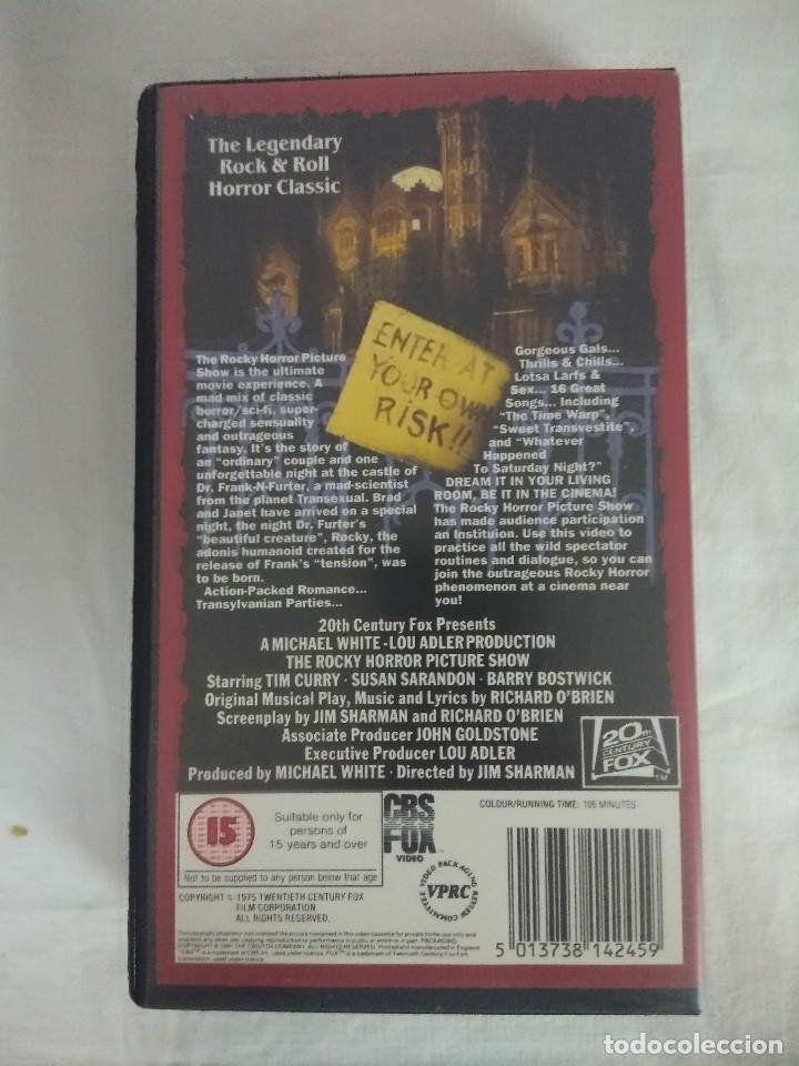 Cine: VHS TERROR/THE ROCKY HORROR PICTURE SHOW/ORIGINAL EN INGLES. - Foto 2 - 179526536