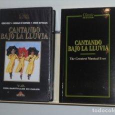 Cine: CLASSIC MOVIES CANTANDO BAJO LA LLUVIA V.O. CON SUBTITULOS EN INGLES CON FOLLETO - VIDEO VHS. Lote 180126390