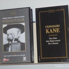 Cine: CIUDADANO KANE V.O. CON SUBTITULOS EN INGLES CON FOLLETO - VIDEO VHS. Lote 180127978