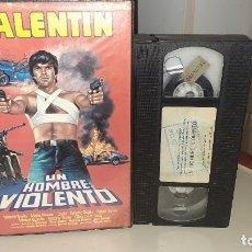 Cine: VHS VALENTIN UN HOMBRE VIOLENTO - VALENTIN TRUJILLO . Lote 180927550
