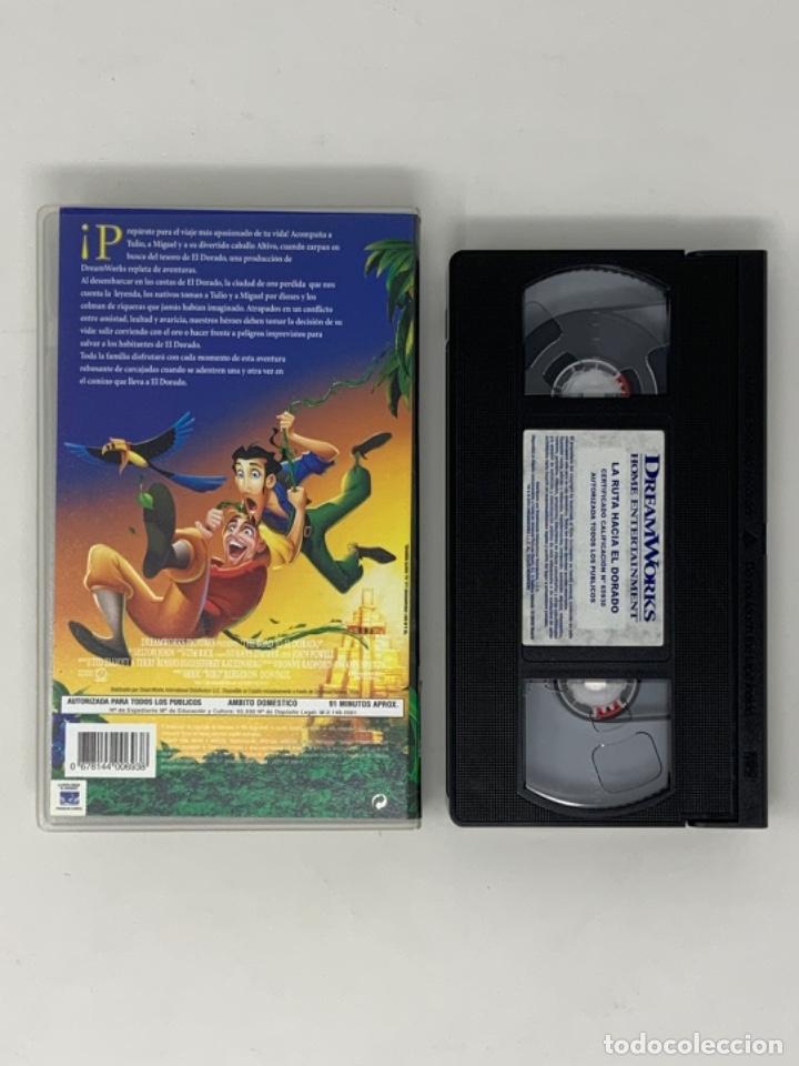 Cine: LA RUTA HACIA EL DORADO DREAMWORKS PICTURES VHS - Foto 2 - 181071997