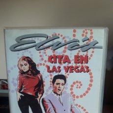 Cine: CITA EN LAS VEGAS VHS ELVIS PRESLEY. Lote 181692960