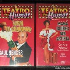 Cine: LOTE 2 VHS EL TEATRO DEL HUMOR - MAMA QUIERO SER ARTISTA - CONCHA VELASCO PRECINTADO VIVA EL CHAMPAN. Lote 182235703