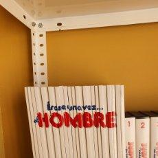 Cine: ERASE UNA VEZ EL HOMBRE LOTE DE LIBROS Y PELÍCULAS FALTA 1 CINTA. Lote 182257448