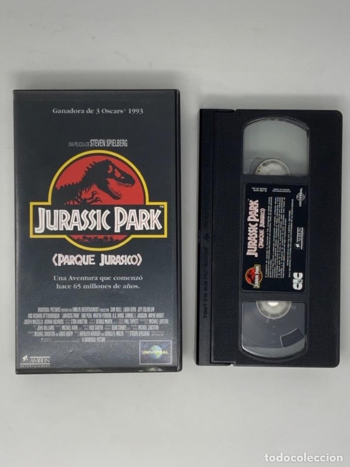 PELÍCULA VHS JURASSIC PARK ( PARQUE JURÁSICO (Cine - Películas - VHS)
