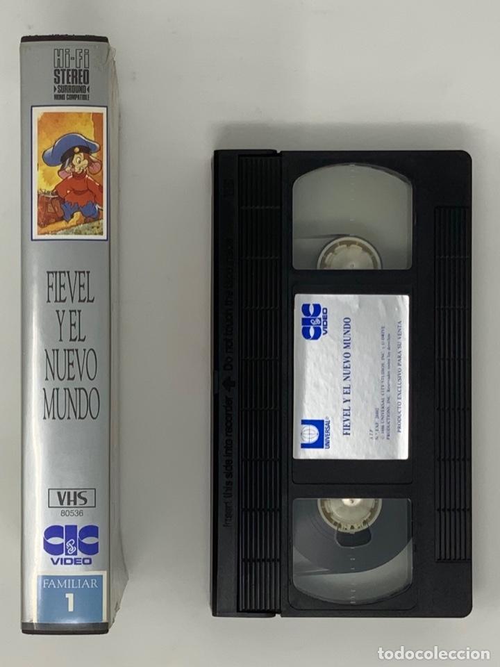Cine: PELÍCULA VHS FIEVEL Y EL NUEVO MUNDO - Foto 2 - 182295187