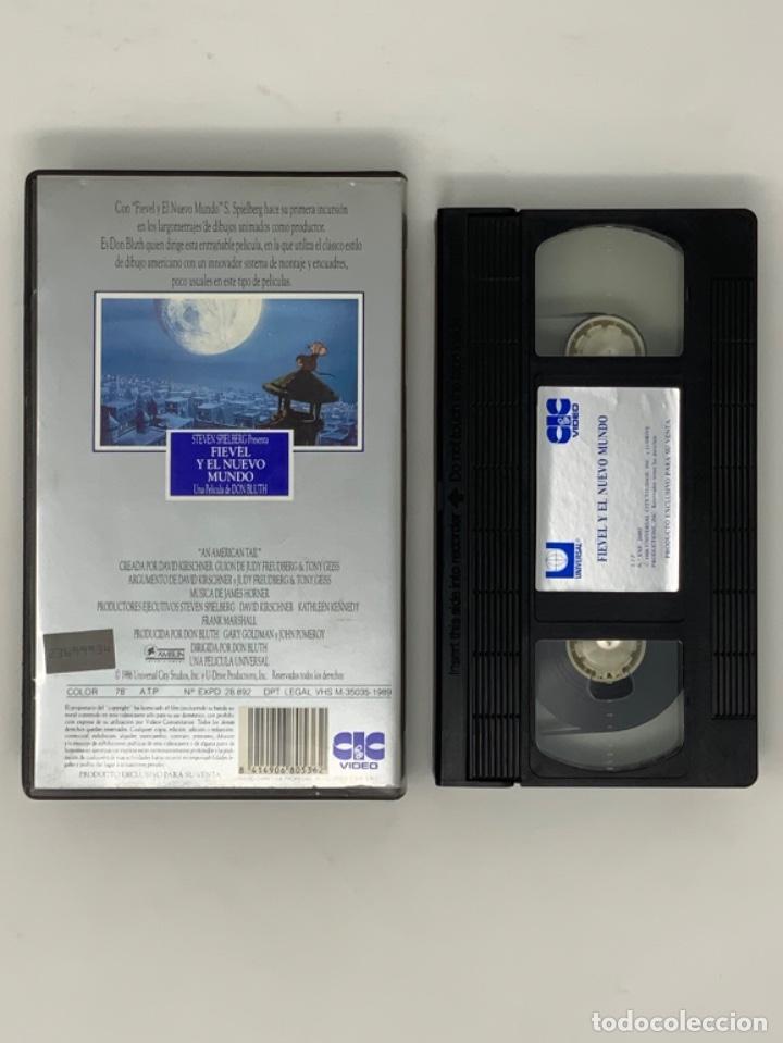 Cine: PELÍCULA VHS FIEVEL Y EL NUEVO MUNDO - Foto 3 - 182295187