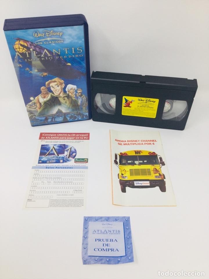 WALT DISNEY LOS CLÁSICOS ATLANTIS EL IMPERIO PERDIDO VHS INCLUYE TARJETAS INTER (Cine - Películas - VHS)