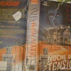 Cine: NOCHE DE TENSION¡¡VHS RRAREZA¡¡. Lote 182550315